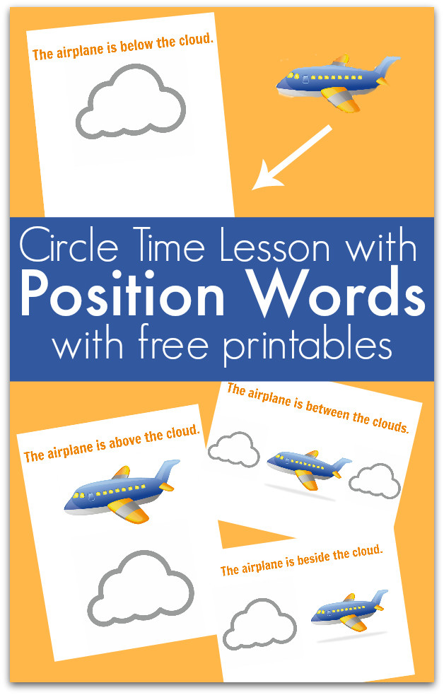 Positional Words Preschool Worksheets Circle Time Lesson About Position Words No Time for Flash