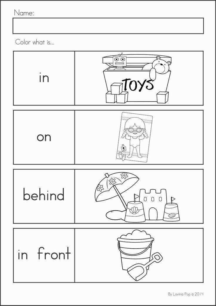 Positional Words Preschool Worksheets Worksheet 60 Incredible Best Worksheets for Kindergarten