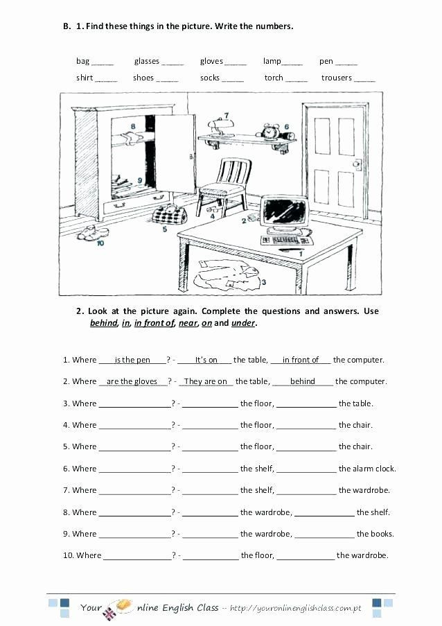 Preposition Worksheets Middle School Kindergarten Prep Panosundaki Pin