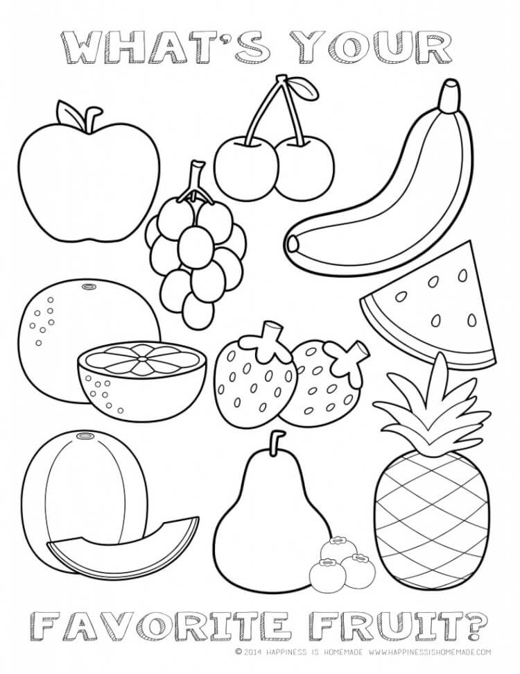 Preschool Fruits and Vegetables Worksheets 33 Coloring Fruits and Ve Ables Picture Ideas – Azspring