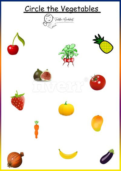 Preschool Fruits and Vegetables Worksheets Circle Ve Ables Worksheets Printables