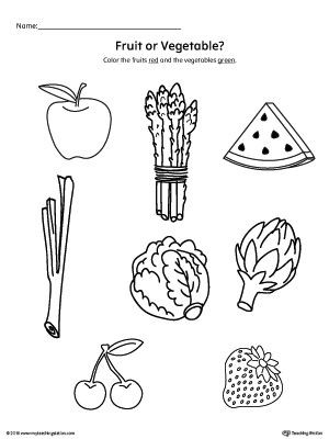 Preschool Fruits and Vegetables Worksheets Early Childhood Plants and Animals Worksheets