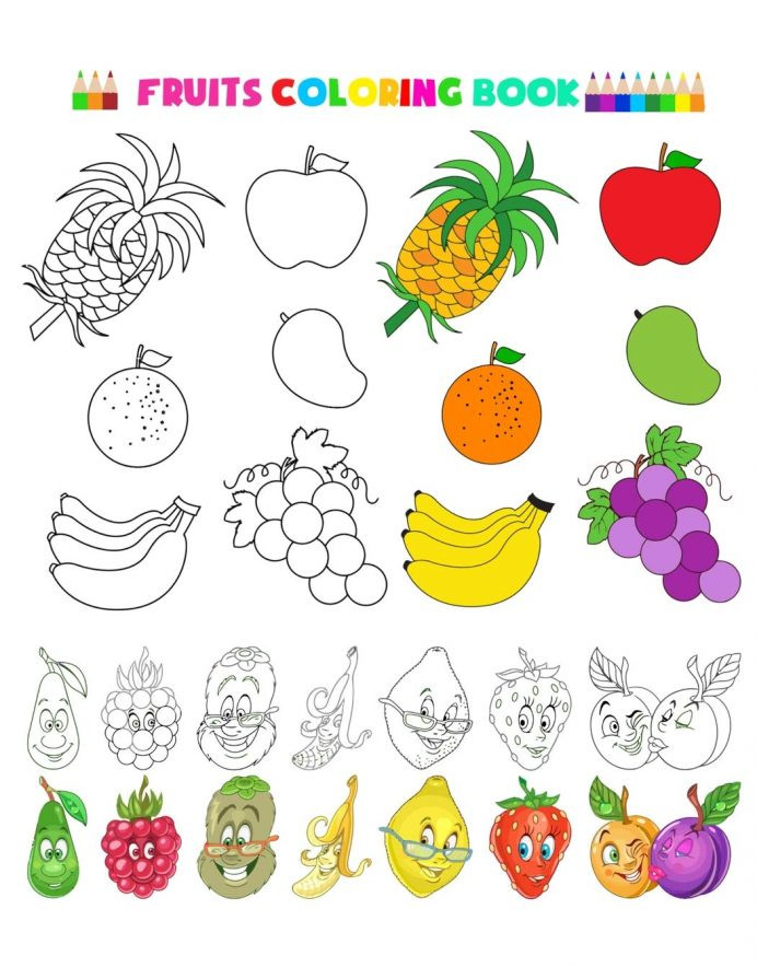Preschool Fruits and Vegetables Worksheets Fruit and Ve Ables Worksheet Printables لم يسبق له Ù…Ø ÙŠÙ""