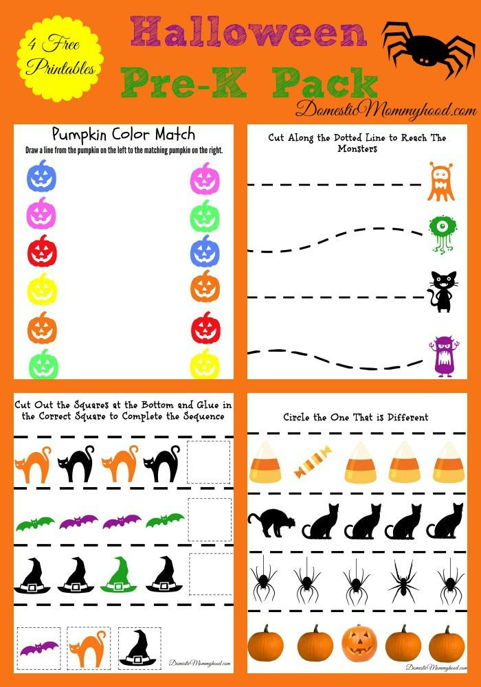 Preschool Halloween Worksheets Free Free Pre K Halloween Pack Printable