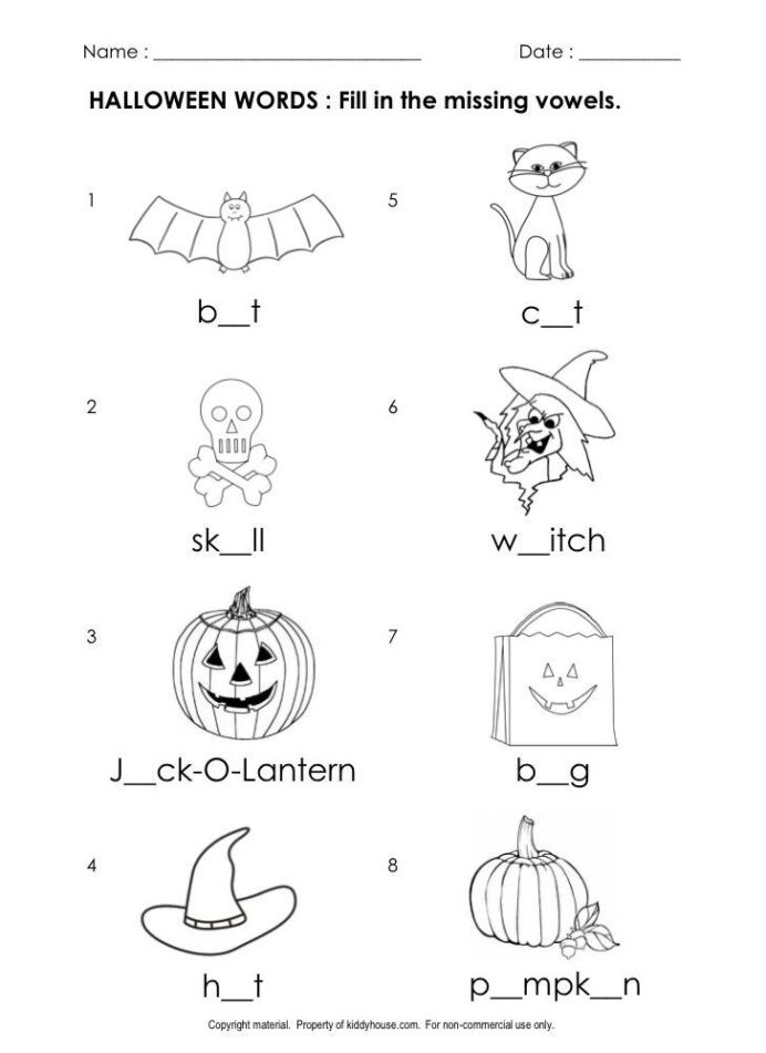 Preschool Halloween Worksheets Free Help U Do Math Halloween Fun Worksheets Elementary Number 5