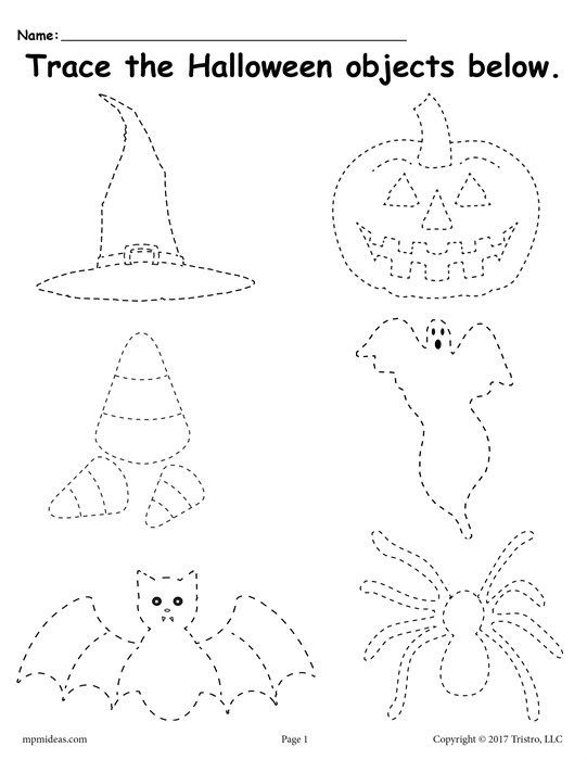 Preschool Halloween Worksheets Free Printable Halloween Tracing Worksheet