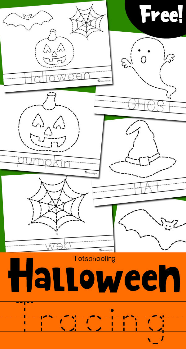 Preschool Halloween Worksheets Free Worksheet Halloween Tracing Worksheets totschooling