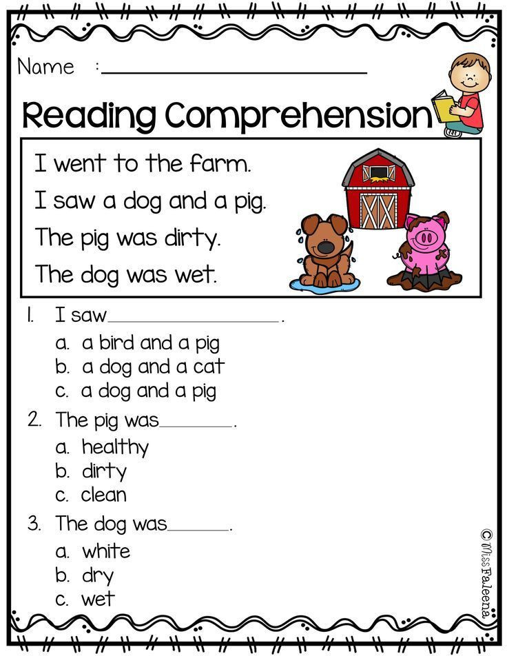 Preschool Reading Comprehension Worksheets Free Reading Prehension