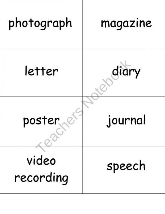 Primary and Secondary sources Worksheet Primary and Secondary sources sort Cards Product From Dr