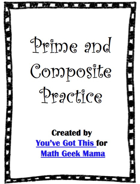 Prime and Composite Numbers Worksheet Prime and Posite Numbers Worksheets Free Activity Pack