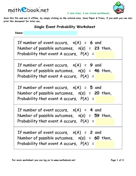 Probability Of Compound events Worksheet 100 [ Probability Worksheet 6 Pound ]