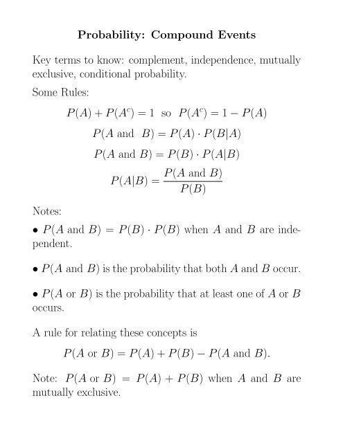 Probability Of Compound events Worksheet Exercises On Pound events Pdf Facultysierra