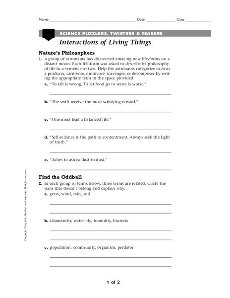 Producer Consumer Decomposer Worksheet Scavengers and De Posers Lesson Plans & Worksheets