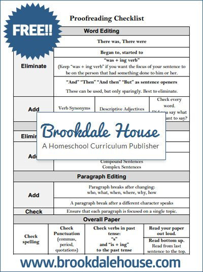 Proofreading Worksheets High School Proofreading and Editing Checklist for Writing assignments