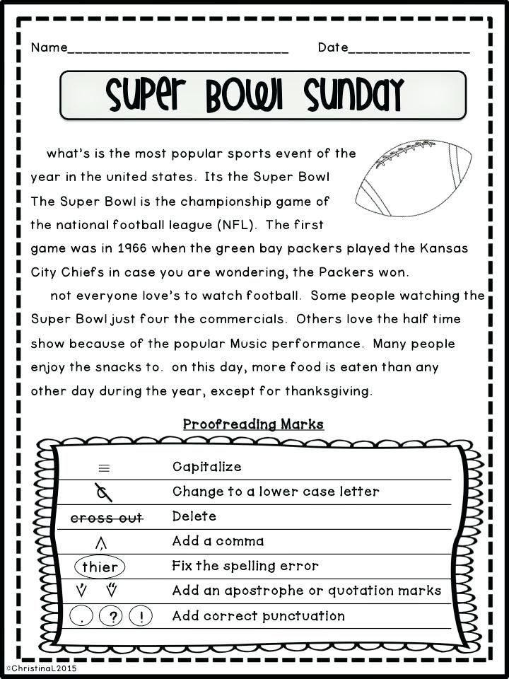 Proofreading Worksheets Middle School Pin On Editing Revising Writing