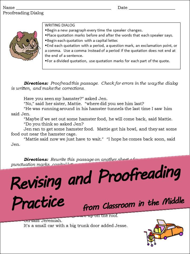 Proofreading Worksheets Middle School This Set Of 15 Revising and Proofreading Worksheets for