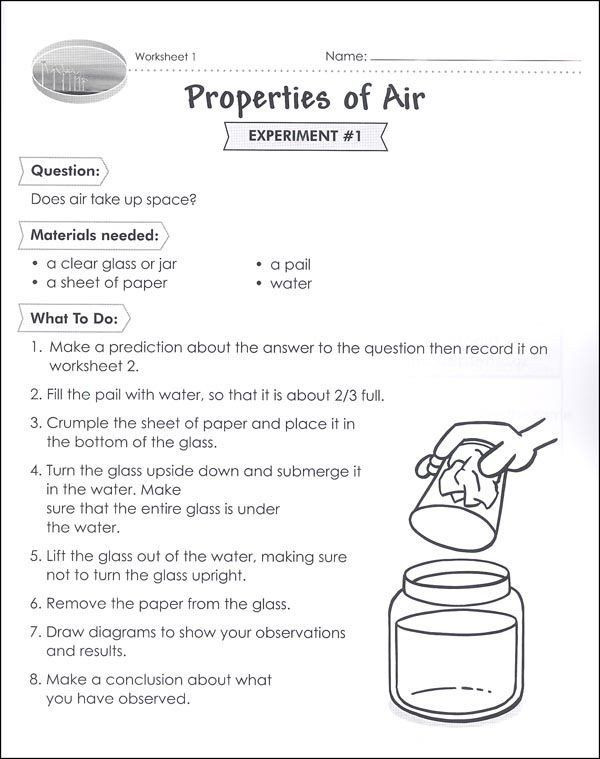 Properties Of Water Worksheet Answers Free Water In the Air Experiment to Introduce Evap Vozeli