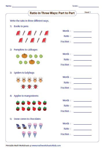 Proportions Worksheet 6th Grade Simple Ratio Worksheets In 2020