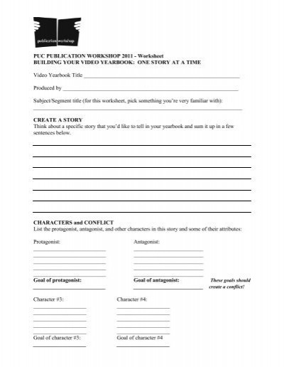Protagonist and Antagonist Worksheet Worksheet Building Your Video Yearbook One Story at A