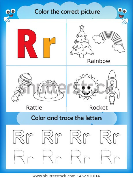 Rainbow Worksheets Preschool Alphabet Learning Letters Coloring Graphics Printable เวก
