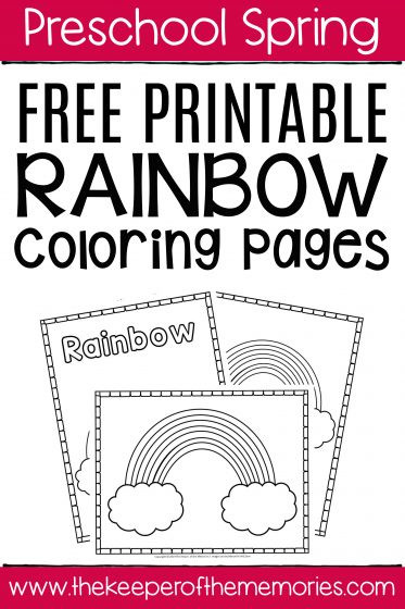 Rainbow Worksheets Preschool Free Printable Rainbow Coloring Pages the Keeper Of the
