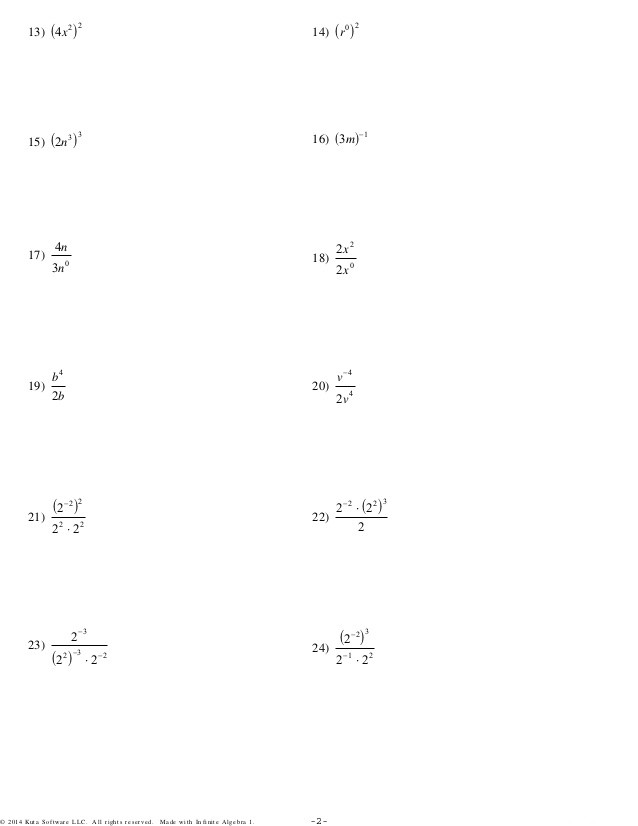 Rational Exponents and Radicals Worksheet Exponents Worksheets Kuta S Newpcairport