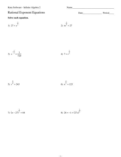 Rational Exponents and Radicals Worksheet Rational Exponents Equations Worksheet Tessshebaylo