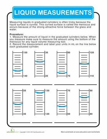 Reading Graduated Cylinders Worksheet Graduated Cylinder Measurements
