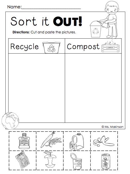 Recycle Worksheets for Preschoolers 110 Best Recycle Images