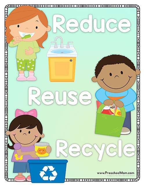 Recycling Worksheets for Middle School Earth Day Preschool Printables Preschool Mom