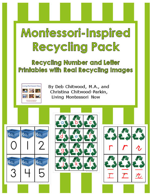 Recycling Worksheets for Preschoolers Free Recycling Printables and Montessori Inspired Recycling
