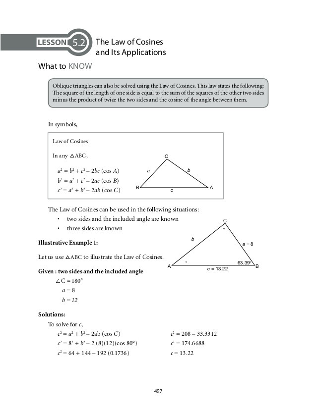 Right Triangle Word Problems Worksheet Math 9 Module 7