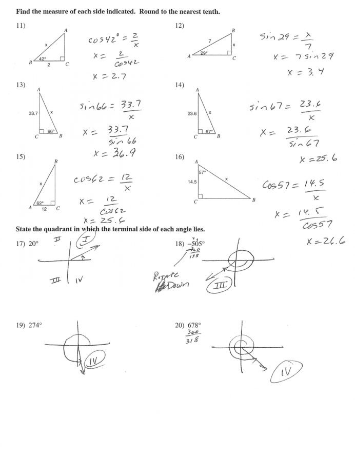 Right Triangle Word Problems Worksheet Trigonometry Drawing at Getdrawings Free Right Triangle