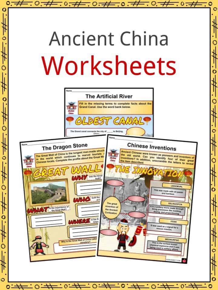 River Valley Civilizations Worksheet Ancient China Facts Worksheets Innovation Geography