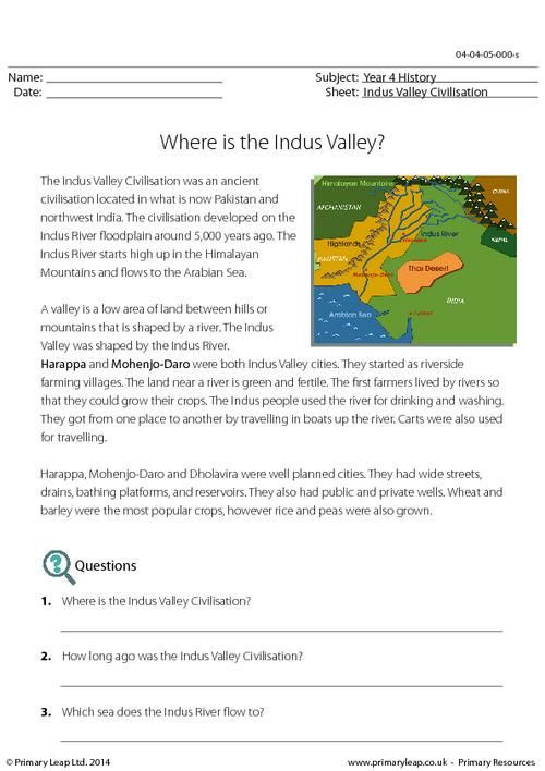 River Valley Civilizations Worksheet History Reading Prehension What Were Indus Cities Like