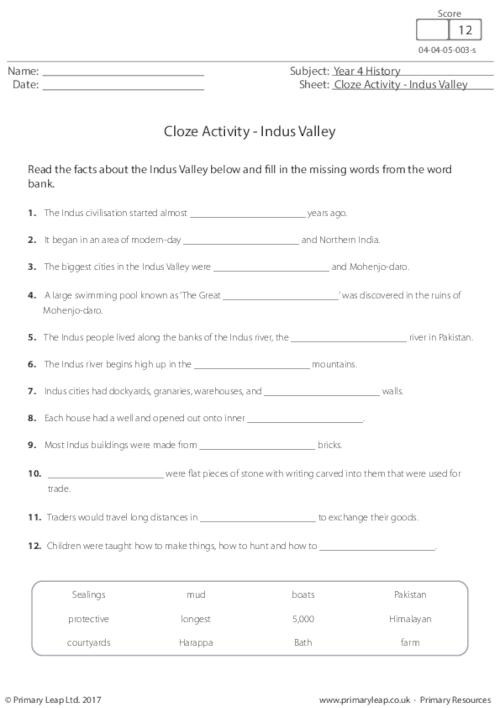 River Valley Civilizations Worksheet History Reading Prehension where is the Indus Valley
