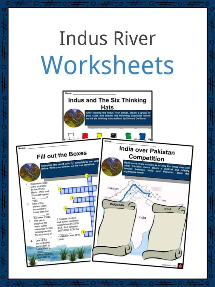 River Valley Civilizations Worksheet Indus River Facts & Worksheets Wildlife Location & Names