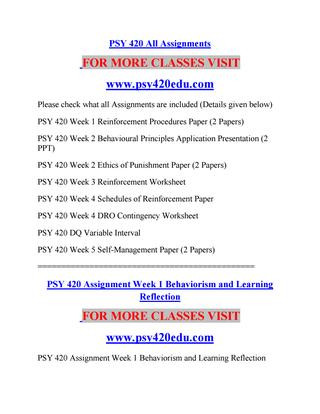 Schedules Of Reinforcement Worksheet Psy 420 Edu social Responsibility Psy420edu by