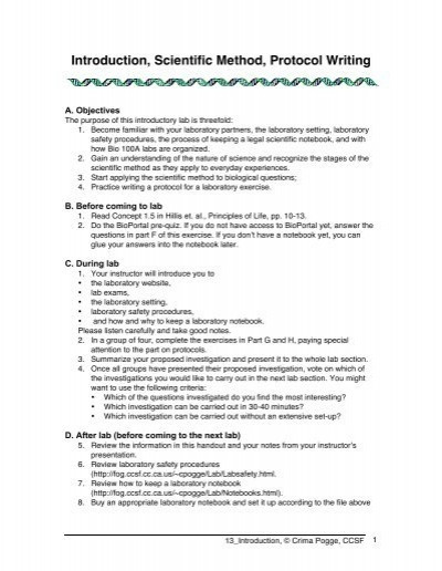 Scientific Method Review Worksheet Answers Introduction Scientific Method Protocol Writing Fogsf