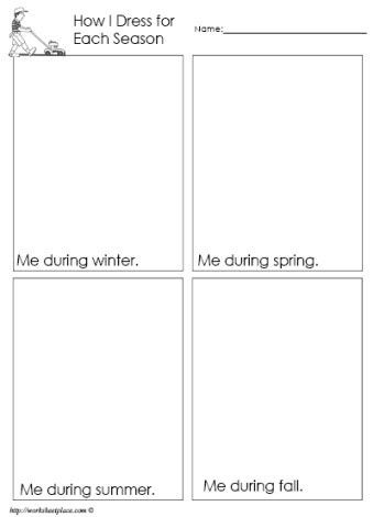 Seasons Worksheets for Preschoolers Dress for the Season Worksheet
