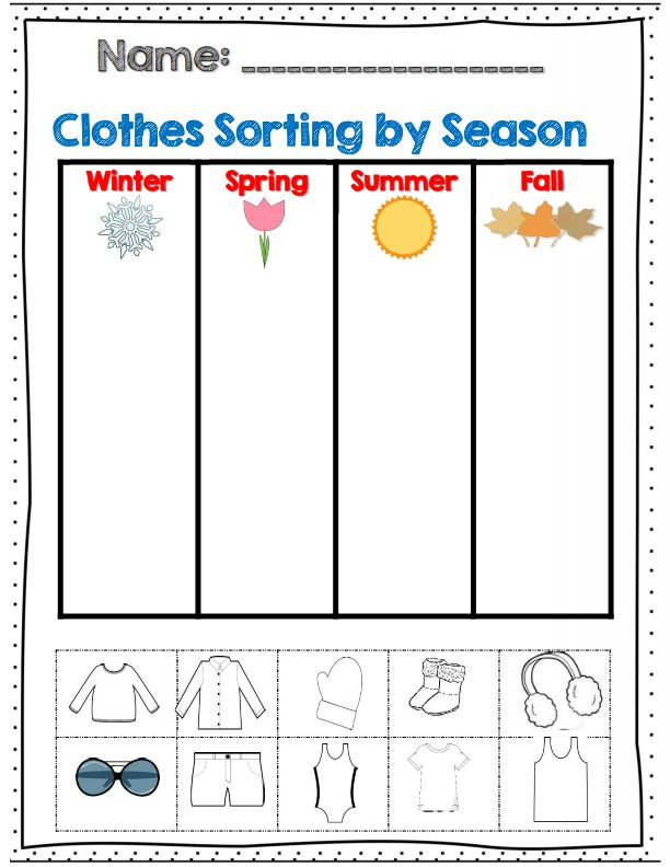 Seasons Worksheets for Preschoolers Seasons Lessons Tes Teach