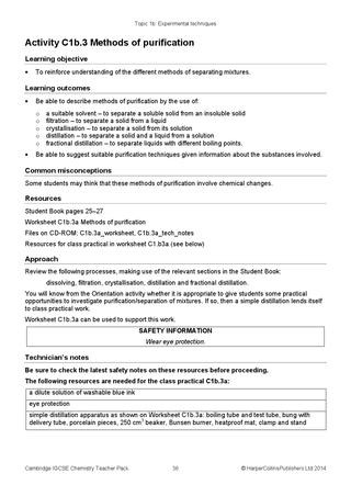 Separation Of Mixtures Worksheet Cambridge Igcse Chemistry Teacher Pack by Collins issuu