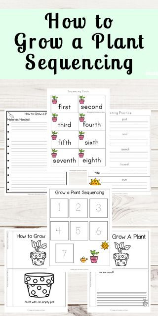 Sequencing Worksheets for Middle School Grow A Plant Sequencing Worksheets