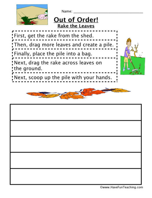 Sequencing Worksheets for Middle School Sequencing Worksheets • Have Fun Teaching