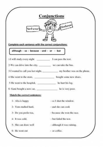 Sequencing Worksheets Middle School Conjunction Worksheets Free