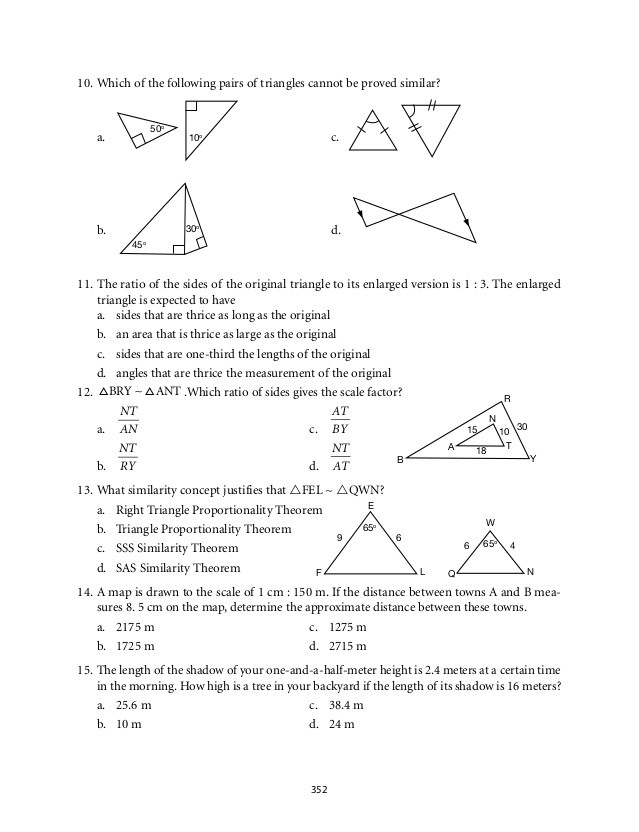 Similar Polygons Worksheet Answers Grade 9 Mathematics Module 6 Similarity