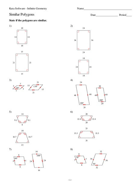 similar polygons math 9th 10th