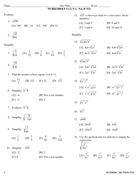 Simplifying Radicals Worksheet with Answers 30 Simplifying Radicals Worksheet with Answers Worksheet