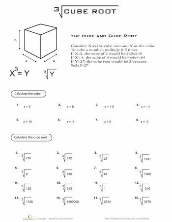 Simplifying Square Roots Worksheet Answers Cube Root