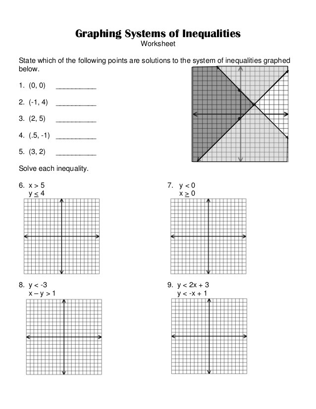 Solve and Graph Inequalities Worksheet 7 6 Systems Of Inequalities Worksheet